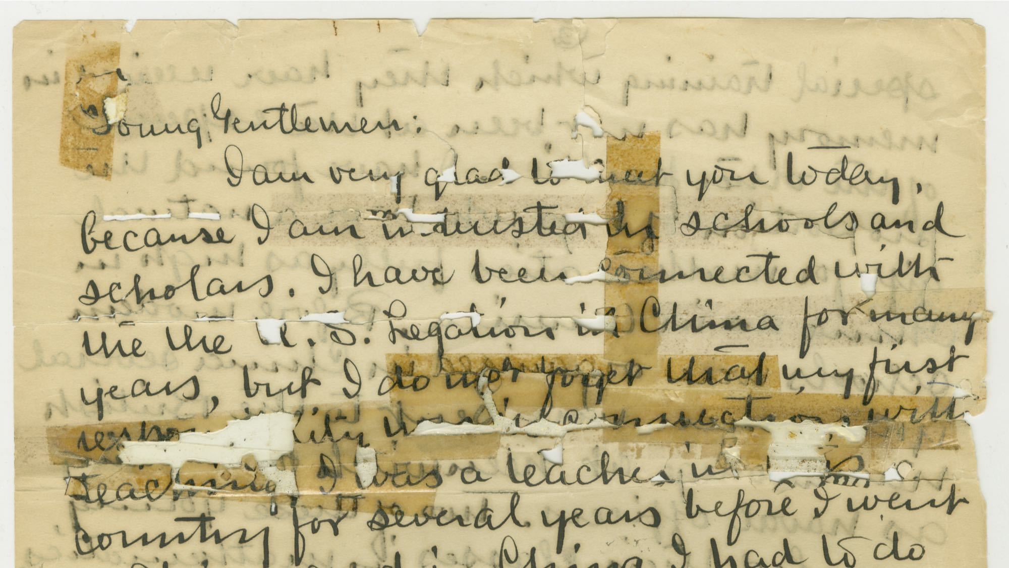 image of a manuscript letter from The Papers of Charles Daniel Tenney
