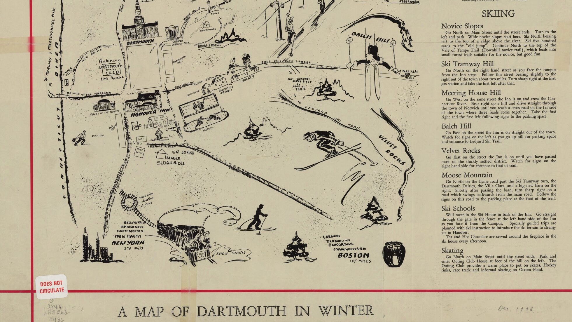 illustrated map of Hanover, New Hampshire