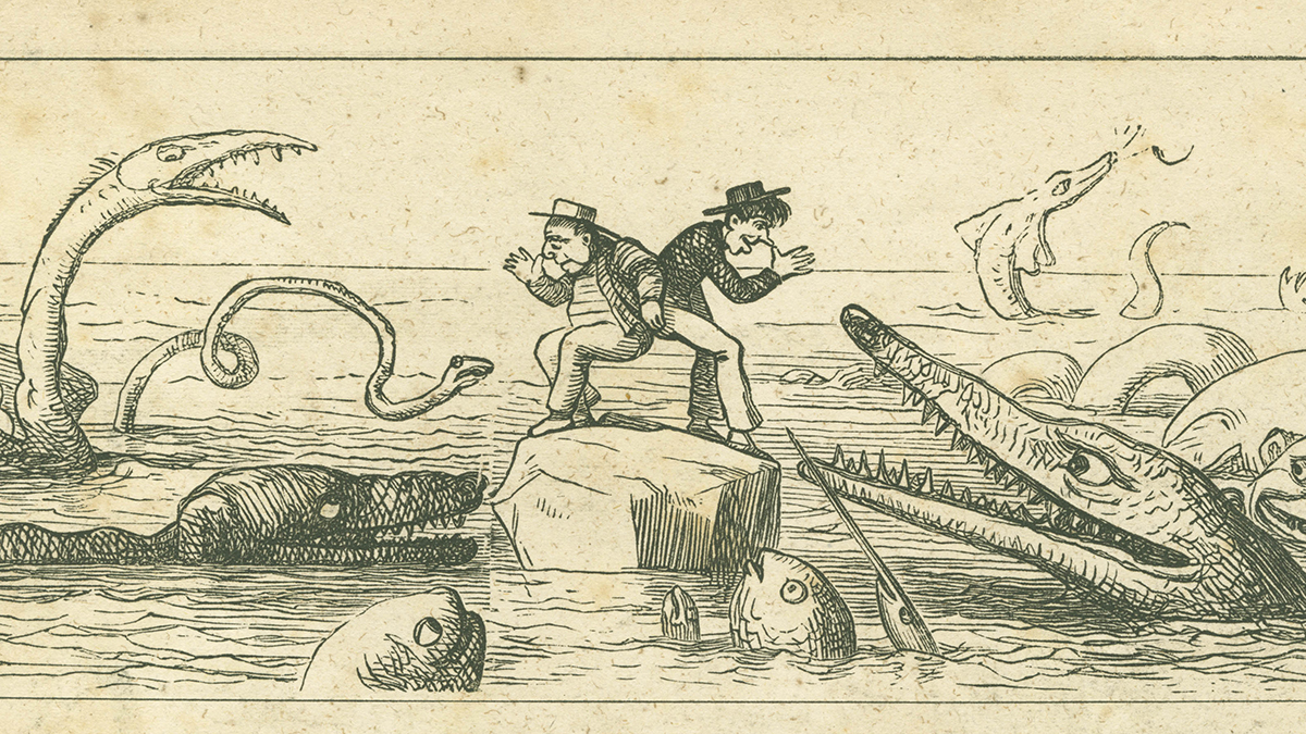 Ferdinand Flipper and the sea monsters