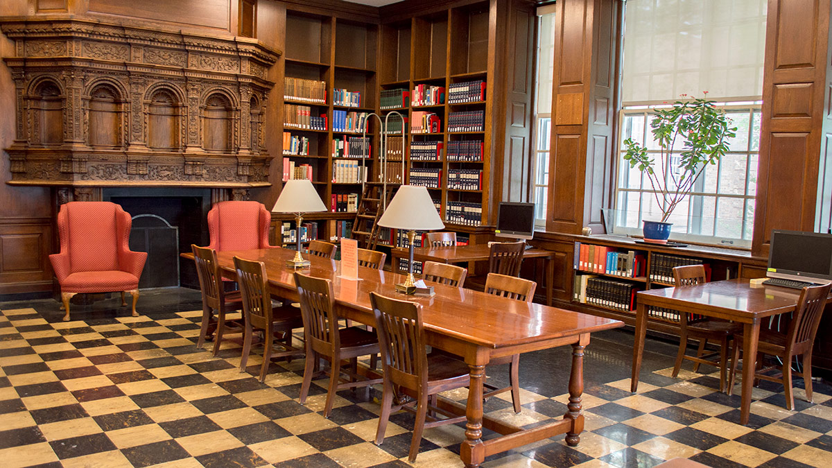 Sherman Library Reference Room