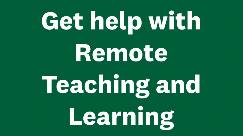 Dartmouth Library resources for remote teaching and learning