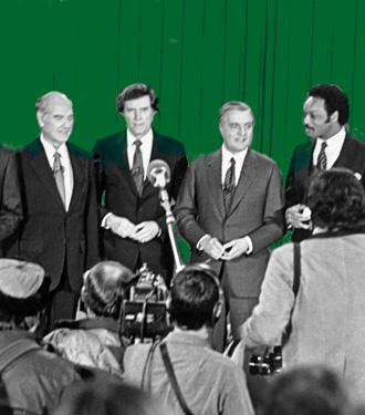 1984 Democrat debate exhibit slider
