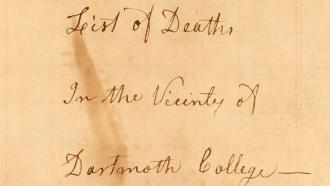 William Dewey death text