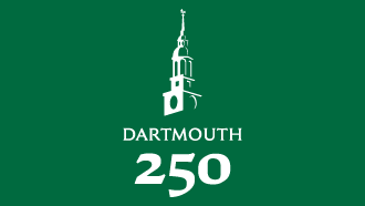 dartmouth 250 logo green background