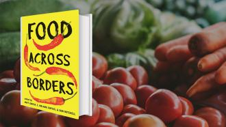 Food Across Borders cover and vegetables