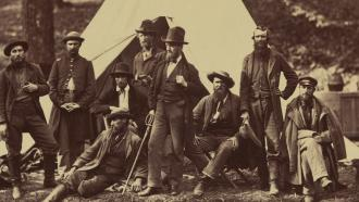 Picture of soldiers in the civil war