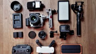 Cameras and audio equipment for digital production