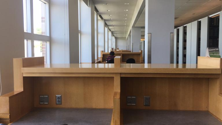 Carrels in the Dartmouth library